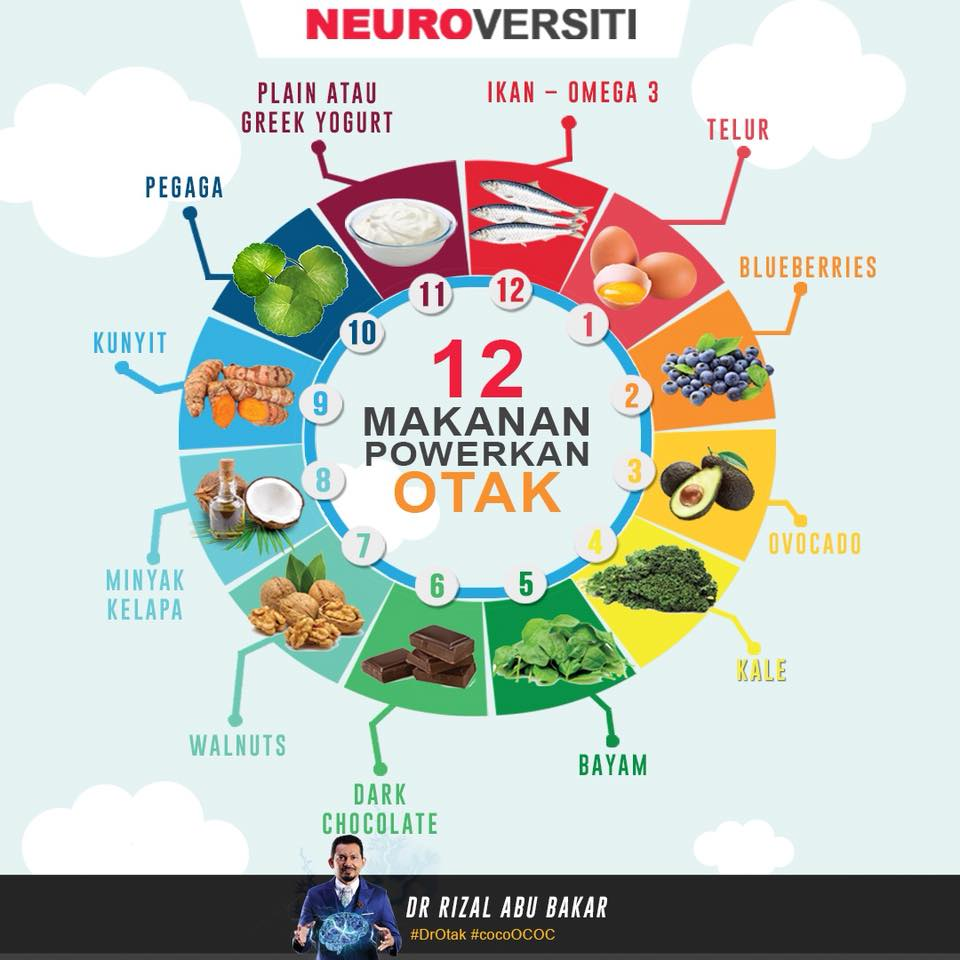 Pakar Kongsi 12 Makanan Ini Boleh Powerkan Otak Elok Diamalkan
