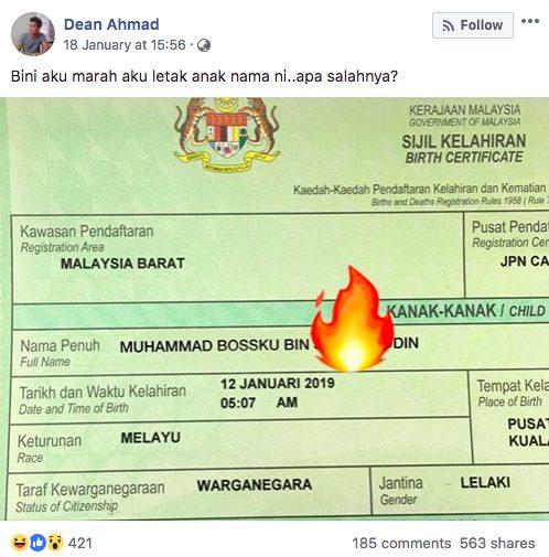Isteriku Marah Letak Nama Anak Muhammad Bossku Apa Masalahnya Muhammad Bossku Hadiah Hari Lahir Kami Pa Ma