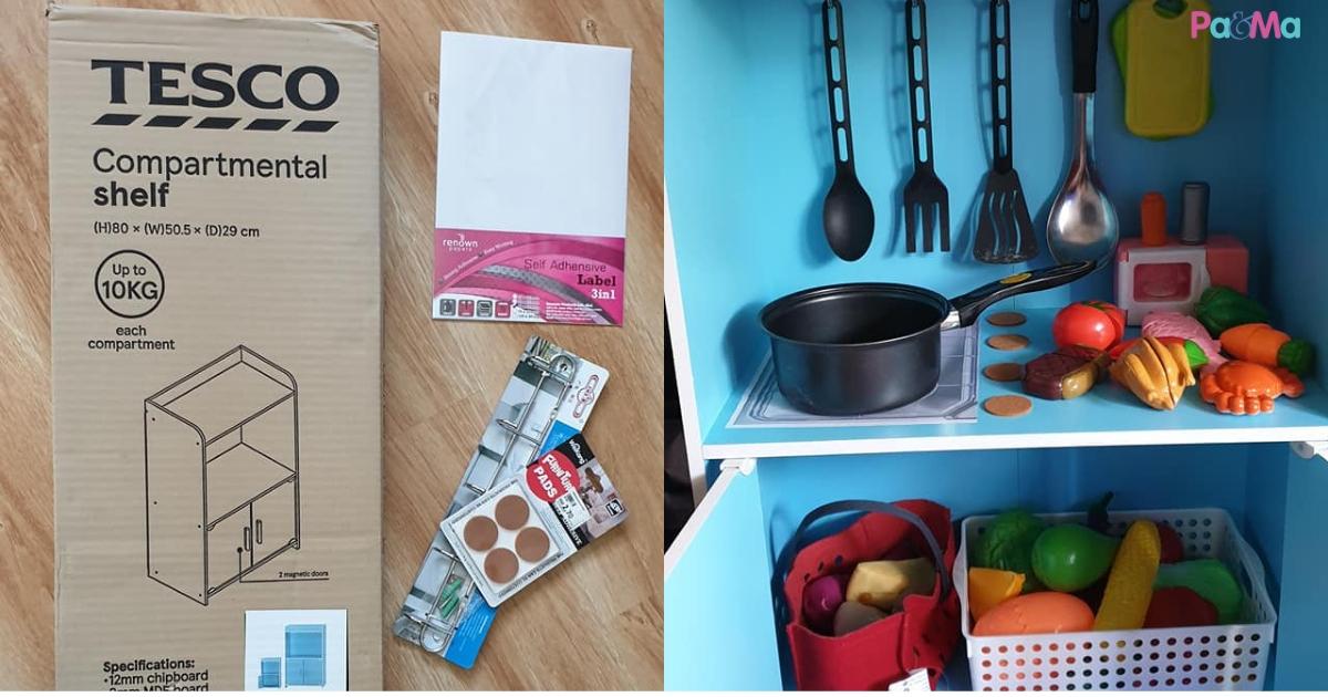 D I Y Dapur Mainan Tak Lebih Rm100 Kalau Beli Di Kedai Rm300 Ibu Ini Kongsi Cara Buat Dapur Mainan Mudah Untuk Anak Pa Ma