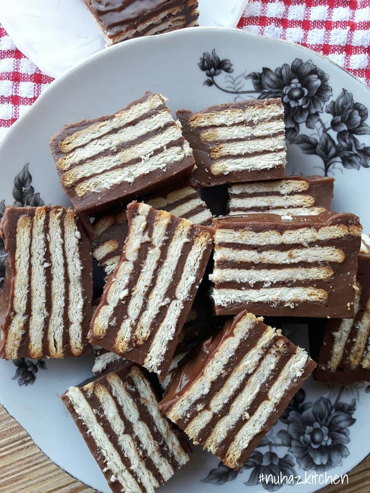 Bukan Kek Batik Tapi Sediakan Puding Biskut Marie Untuk Anak