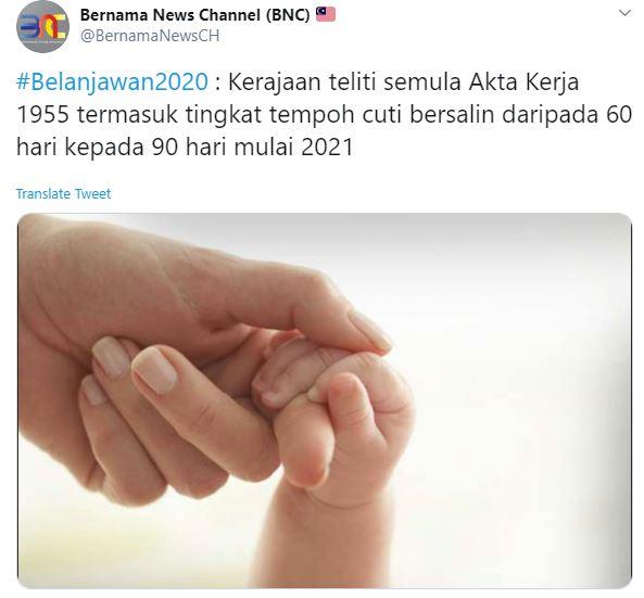 Cuti Bersalin 90 Hari Bakal Dilaksanakan Mulai 2021 Untuk Sektor Swasta Pa Ma