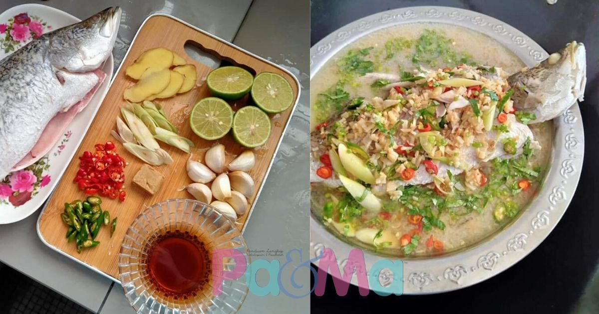 Resipi 8k Share Ikan Siakap Stim Ala Thai Patut Cuba Terliur Dibuatnya Pa Ma