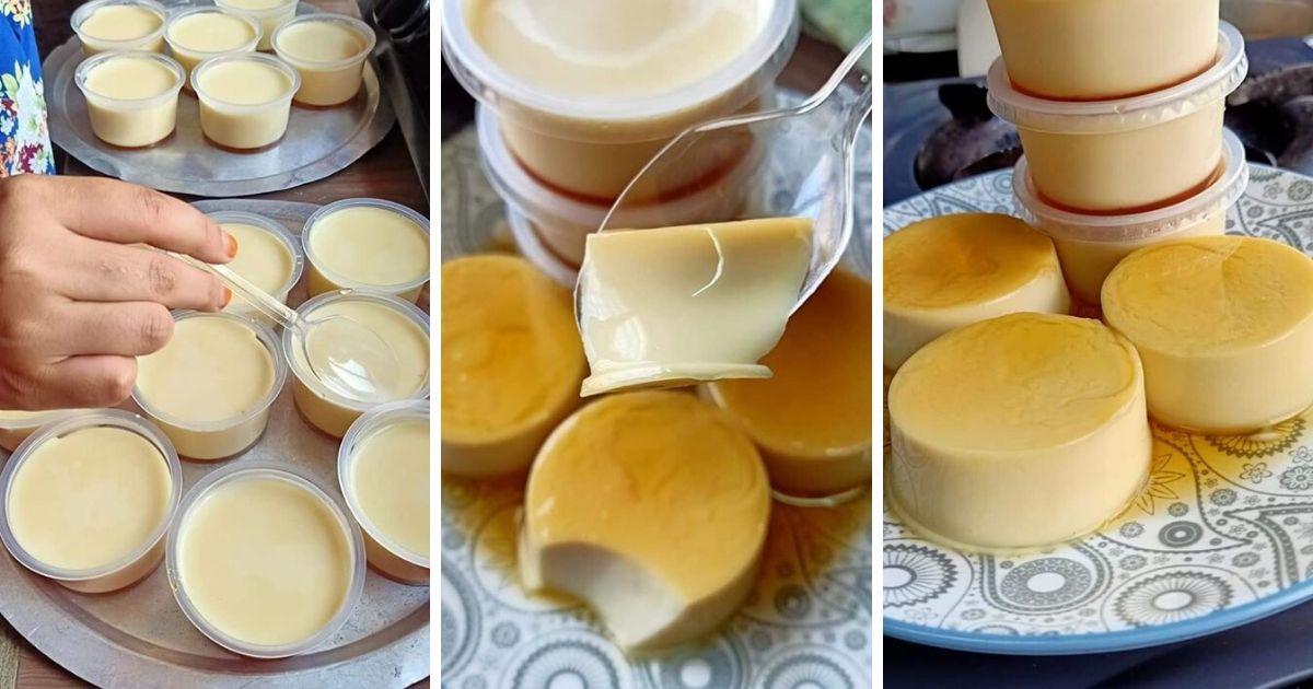 Punyalah Lembut Sedap Puding Karamel Tanpa Telur Ni Cara Buatnya Lagi Mudah Pa Ma