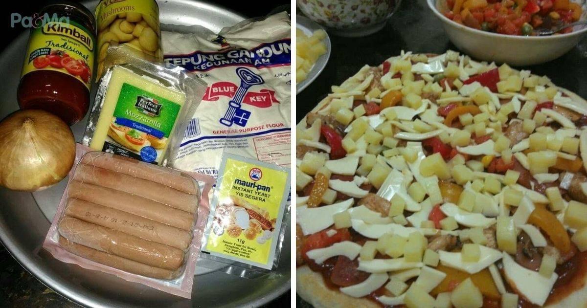 resepi pizza mudah blog resepi shafiqah resepi pizza mudah simple  sedap  pergi Resepi Pizza Capati Enak dan Mudah