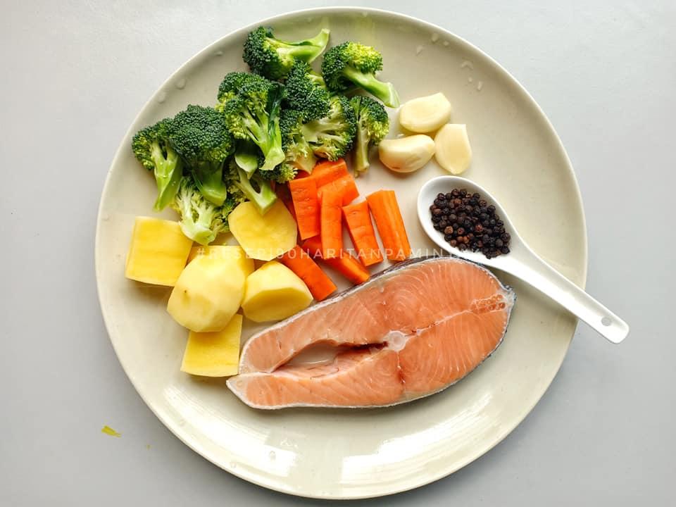 resepi blackpaper roasted salmon menu pantang mudah rasa padu pama Resepi Ikan Salmon Untuk Ibu Berpantang Enak dan Mudah